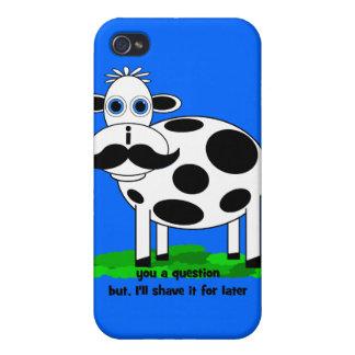 lustige Schnurrbartkuh iPhone 4 Schutzhüllen