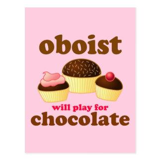 Lustige Schokolade Oboe Postkarte