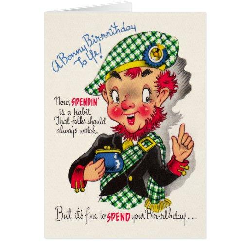Lustige schottische Geburtstags-Karte