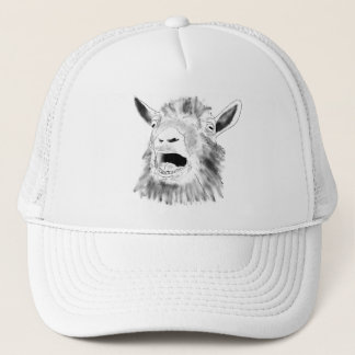 Lustige schreiende Ziege, die Tierkunst-Entwurf Truckerkappe