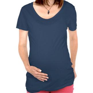 Lustige schwangere Bauch-Witze sehen keine Füße Schwangerschafts T-Shirts