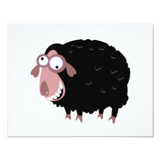 Lustige schwarze Schafe 10,8 X 14 Cm Einladungskarte