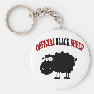 Lustige schwarze Schafe Standard Runder Schlüsselanhänger