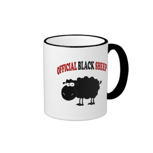 Lustige schwarze Schafe Teetasse