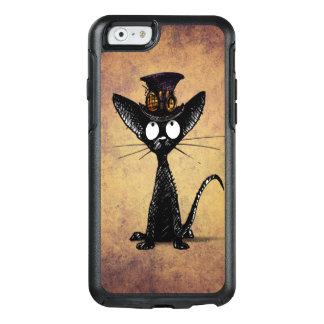 Lustige schwarze Steampunk Katze in einem OtterBox iPhone 6/6s Hülle