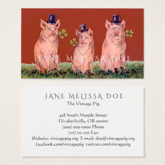 Lustige Schwein-doppelseitige Visitenkarte