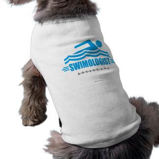 Lustige Schwimmen Hund Shirt