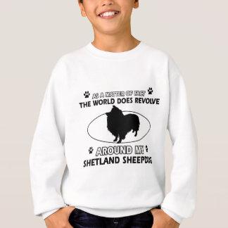 Lustige shetlandsheepdog Entwürfe Sweatshirt