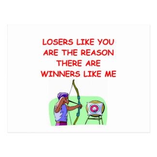 lustige Sieger und Verliererwitz Postkarte