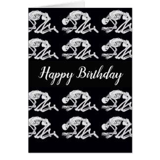 Lustige Skeleton Geburtstags-Karte Karte