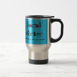 Lustige Sozialarbeiter-Tasse finden Ihre Marmore Edelstahl Thermotasse