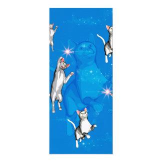 Lustige spielende Cartoonkatzen 10,2 X 23,5 Cm Einladungskarte