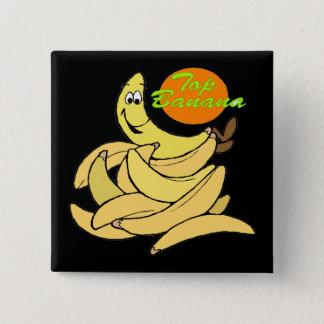 Lustige Spitzenbananen-T - Shirt-Geschenke Quadratischer Button 5,1 Cm
