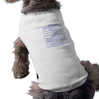 Lustige Sprüche Ärmelfreies Hunde-Shirt