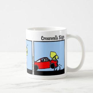 Lustige Stickman Crosswalk-Zeichen-Tasse Kaffeetasse