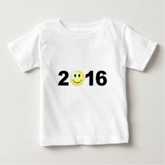 Lustige süße smiley-Zahl des guten Rutsch ins Neue Baby T-shirt