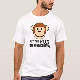 Lustige T - Shirts, Spaß in dysfunktionellem, Affe T-Shirt