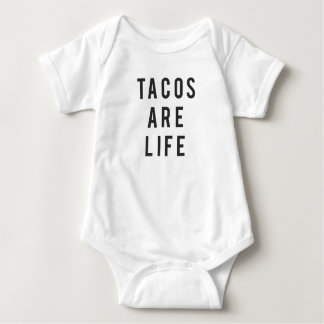 Lustige Tacos sind Leben-Druck Baby Strampler