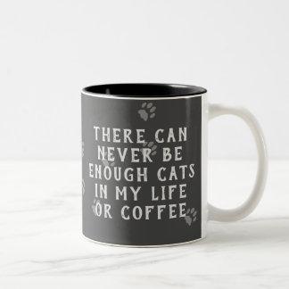 Lustige Tafel nie genügende Katzen oder Zweifarbige Tasse