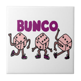 Lustige tanzende Bunco Würfel Keramikfliese