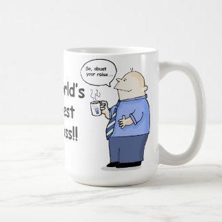 Lustige Tasse des besten Chefs der Welt