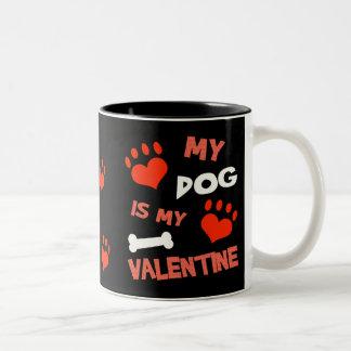 Lustige Tasse des Hundevalentines Tages