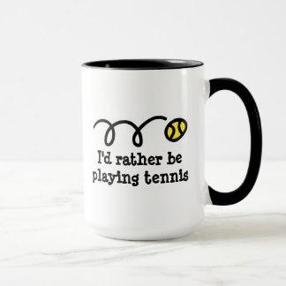 Lustige Tasse für Tennisspieler