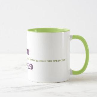 Lustige Tasse für Triathlete - rasiert und