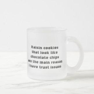 Lustige Tasse über betrügerische Plätzchen