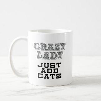 Lustige Tasse - verrückte Dame - addieren gerade