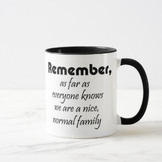 Lustige Tassenfamilie zitiert Geschenkwitz Tasse