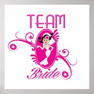 Lustige Team-Braut Posterdrucke