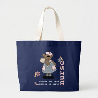 Lustige Teddy-Bärn-Krankenschwesterentwurf Jumbo Stoffbeutel