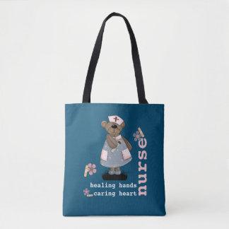 Lustige Teddy-Bärn-Krankenschwesterentwurf Tasche