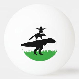 lustige Tierdinosaurierfuchs-Pinguinpyramide Ping-Pong Ball