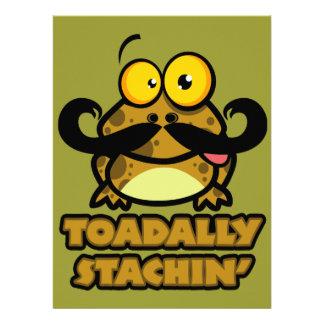lustige toadally stachin Kröte mit einem Ankündigungskarte
