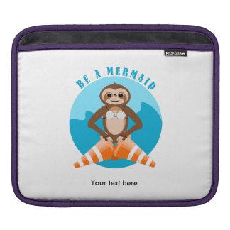 Lustige Trägheit ist eine Meerjungfrau iPad Sleeve