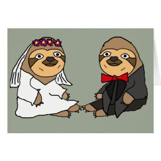 Lustige Trägheits-Braut-und Bräutigam-Hochzeit Karte