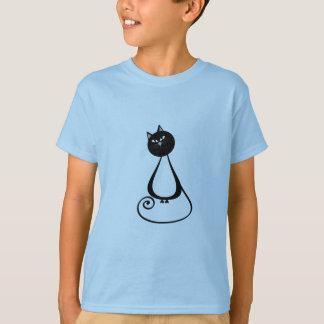 Lustige trendy wunderliche Cartoonkatze T-Shirt