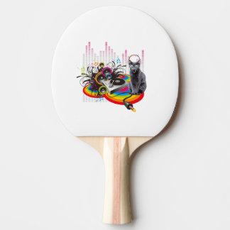 Lustige Turntable Pumpin Musik-Katze Tischtennis Schläger