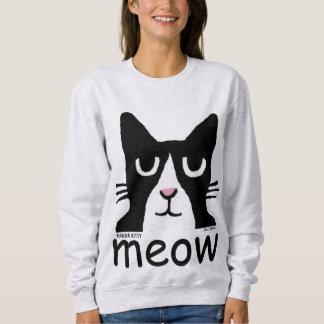 Lustige Tuxedo-Katzen-T - Shirts, PandaKitty, MEOW Sweatshirt