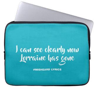 Lustige typografische misheard Lied-Texte Laptop Sleeve