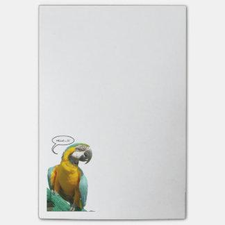 Lustige Unterhaltungs-Papageien-Anmerkungen Post-it Klebezettel