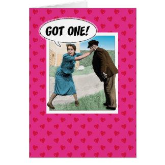Lustige Valentinstagkarte: Erhaltenes! Karte