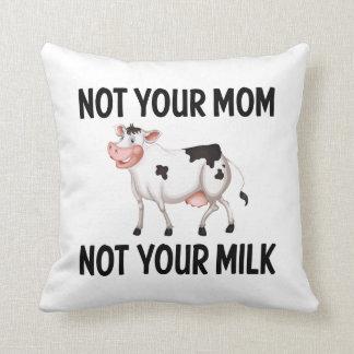 Lustige vegane, vegetarische Kuh/Milch-Zitat Kissen