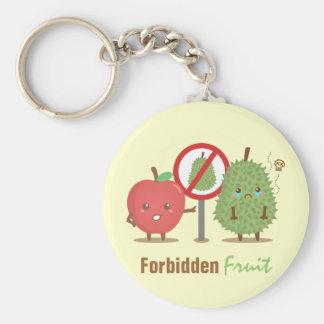 Lustige verbotene Frucht Apple und Durian Keychain Schlüsselanhänger