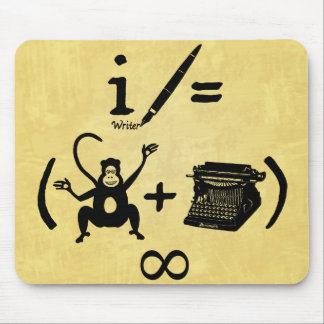 Lustige Verfasser-Affe-Schreibmaschinen-Gleichung Mousepad