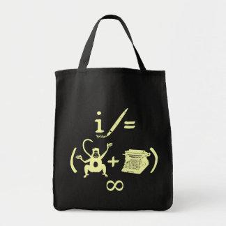Lustige Verfasser-Affe-Schreibmaschinen-Gleichung Tragetasche