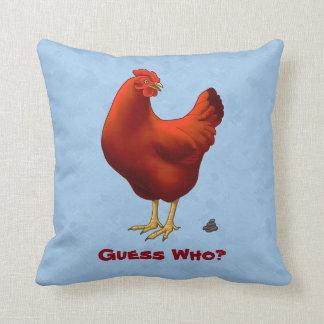 Lustige Vermutung die Huhn Poo Rot-Henne Kissen