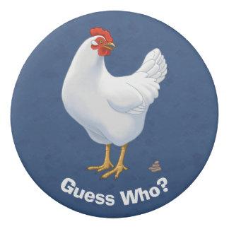 Lustige Vermutung die Huhn Poo Weiß-Henne Radiergummi